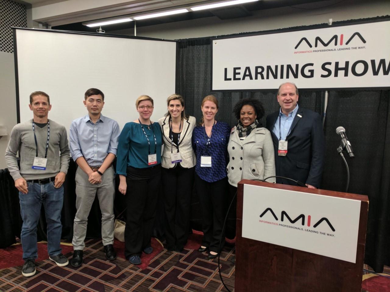 From left to right: François Modave, Ph.D., Yi Guo, Ph.D., Amanda Hicks, Ph.D., Sandra Salloum, Katie Blackburn, TaJuana Chisholm